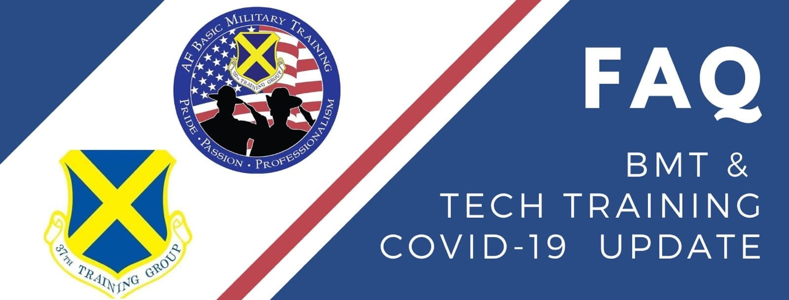 BMT & Tech School COVID-19 FAQ graphic